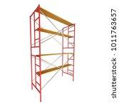 scaffolding metal construction... | Shutterstock . vector #1011763657