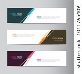 vector abstract banner design... | Shutterstock .eps vector #1011765409