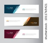 vector abstract banner design... | Shutterstock .eps vector #1011765421