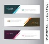 vector abstract banner design... | Shutterstock .eps vector #1011765427