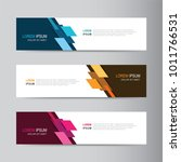 vector abstract banner design... | Shutterstock .eps vector #1011766531