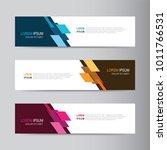 vector abstract banner design... | Shutterstock .eps vector #1011766531