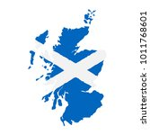 map of scotland with flag. hand ... | Shutterstock .eps vector #1011768601