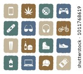 teenager icons. grunge color... | Shutterstock .eps vector #1011768619