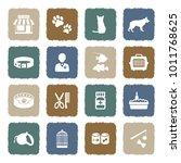 pet shop icons. grunge color... | Shutterstock .eps vector #1011768625