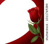 red rose. background or... | Shutterstock .eps vector #1011769384