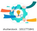 business development  project... | Shutterstock .eps vector #1011771841