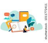 education  online training... | Shutterstock .eps vector #1011772411