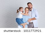 happy family mother father and... | Shutterstock . vector #1011772921