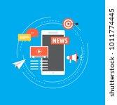 online news  newspaper  news... | Shutterstock .eps vector #1011774445