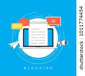 online news  blog post ... | Shutterstock .eps vector #1011774454