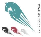 Jumping Horse Symbol   Vector...