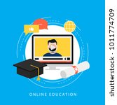 education  e learning  online... | Shutterstock .eps vector #1011774709
