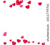 valentine background with red... | Shutterstock .eps vector #1011779701