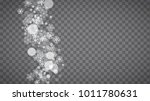 winter frame with white... | Shutterstock .eps vector #1011780631