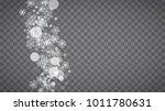 winter frame with white... | Shutterstock .eps vector #1011780631