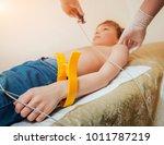 doctor with electrocardiogram...   Shutterstock . vector #1011787219