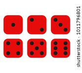dice on a white background.... | Shutterstock .eps vector #1011796801