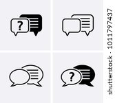 chat  question icon.... | Shutterstock .eps vector #1011797437