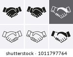 handshake partnership icon.... | Shutterstock .eps vector #1011797764