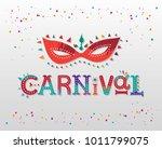 carnival hand drawn lettering... | Shutterstock .eps vector #1011799075