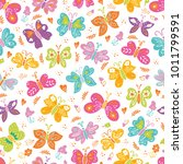 vector butterflies spring... | Shutterstock .eps vector #1011799591