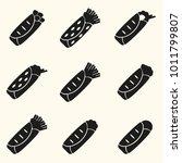 set of black tortilla food...   Shutterstock .eps vector #1011799807