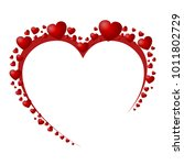 beautiful red hearts   stock...   Shutterstock .eps vector #1011802729