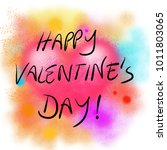 happy valentine's day card with ... | Shutterstock . vector #1011803065