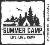 summer camp. vector... | Shutterstock .eps vector #1011806521