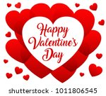 red hearts  beautiful concept... | Shutterstock .eps vector #1011806545