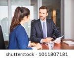 recruiter during business job... | Shutterstock . vector #1011807181