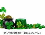 st patricks day pot of gold ... | Shutterstock . vector #1011807427