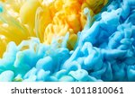 ink drop in water. abstract... | Shutterstock . vector #1011810061