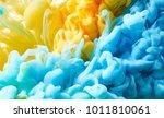 ink drop in water. abstract... | Shutterstock . vector #1011810061