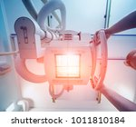 x ray room in a hospital.... | Shutterstock . vector #1011810184
