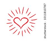 heart symbol with sunburst | Shutterstock .eps vector #1011810787