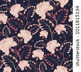 vector seamless oriental...   Shutterstock .eps vector #1011815134