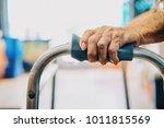 elderly female patient hand and ... | Shutterstock . vector #1011815569