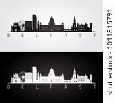 belfast skyline and landmarks... | Shutterstock .eps vector #1011815791