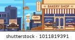 bakery facade. bakery facade.... | Shutterstock .eps vector #1011819391