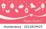festive greeting card or... | Shutterstock .eps vector #1011819925
