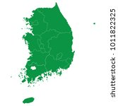 south korea map isolated on... | Shutterstock .eps vector #1011822325