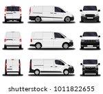 realistic cargo vans. front...   Shutterstock .eps vector #1011822655