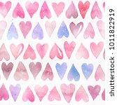 seamless watercolor pattern... | Shutterstock . vector #1011822919