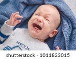 little newborn baby is crying.... | Shutterstock . vector #1011823015