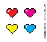 Pixel Heart Icon Set  The 14th...