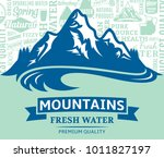 vector mountain water... | Shutterstock .eps vector #1011827197