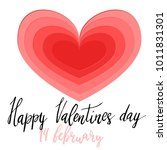 happy valentines day hand... | Shutterstock .eps vector #1011831301