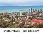 residential district on seaside ... | Shutterstock . vector #1011831325